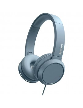 Philips On-Ear Stereo 3.5mm TAH4105BL/00 Blue With Microphone