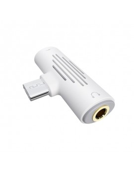 Adaptor Borofone BV8 2-in-1 USB-C to USB-C and 3.5mm 1.5A White