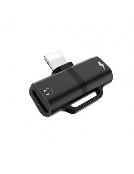 Adapter Hoco LS20 2-in-1 Lightning to Dual Lightning 2.0A Black