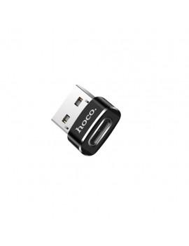 Adaptor Hoco UA6 USB to USB-C Black