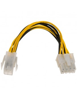 Adapter with Power Cable Akyga AK-CA-10 P4 4 pin Female / P8 8 pin Male P4+4 15cm