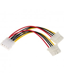 Adapter with Power Cable Akyga AK-CA-15 Molex Male / 2x Molex Female 2x 15cm