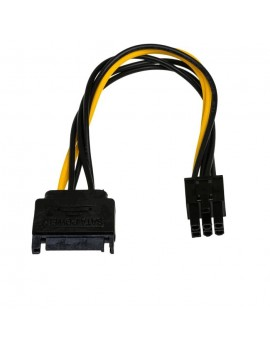 Adapter with Power Cable Akyga AK-CA-30 SATA Male / PCI-E 6 pin Male 15cm