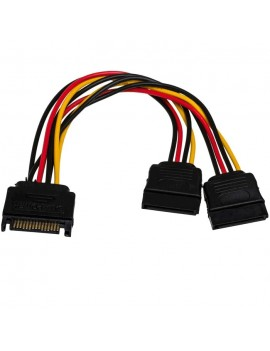 Adapter with Power Cable Akyga AK-CA-31 SATA Male / 2x SATA Female 2x 15cm