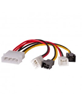Adapter with Power Cable Akyga AK-CA-34 Molex Male / 2x 3 pin 12V Male / 2x 3 pin 5V Male 4x 15cm