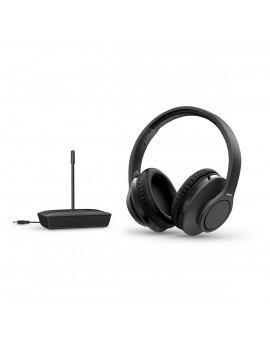 Philips Wireless Stereo Headphones TAH6005BK/10 Black for TV and HiFi Stereo