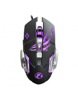 Wired Mouse iMICE Apedra A8 Gaming 6D with 6 Buttons, 3200 DPI LED Lightning. Black