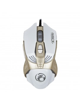 Wired Mouse iMICE V5 Gaming 7D with 7 Buttons, 3200 DPI, Multimedia and LED Lightning. White