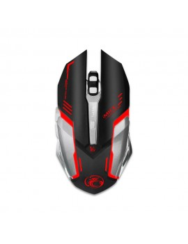 Wired Mouse iMICE V8 Gamer 6D with 6 Buttons, 4800 DPI, Multimedia and LED Lightning. Black-Grey