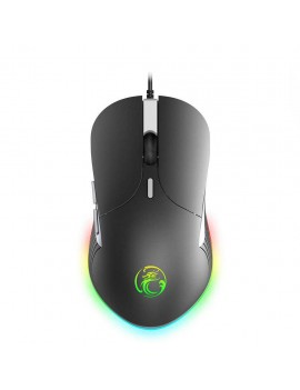 Wired Mouse iMICE X6 Gamer 6D with 6 Buttons, 3200 DPI LED Lightning. Black