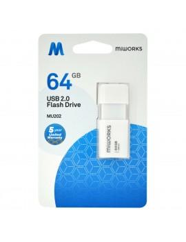 Flash Drive MiWorks MU202 64GB USB 2.0 White