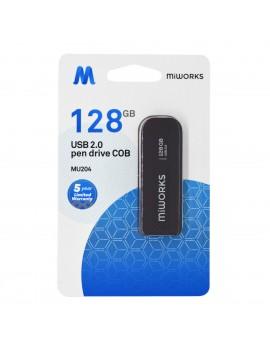 Flash Drive MiWorks MU204 128GB USB 2.0 Black