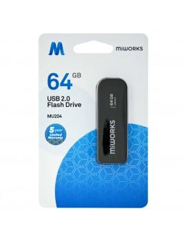 Flash Drive MiWorks MU204 64GB USB 2.0 Black