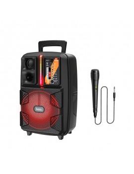 Portable Speaker Trolley Hoco BS37 Dancer Black 15W BT V5.0 TWS Supports FM USB, AUX