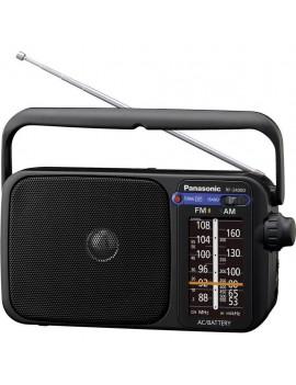 Portable FM Radio Panasonic RF-2400DEG-K 770mW Black Mains and Battery Supply