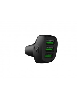 Car Charger Green Cell CADGC01 PowerRide 54W 3xUSB 18W Ultra Charge 54W 3.6-6V/3A,6-9V/2A,9-12V/1.5A με Backlight