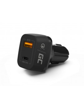 Car Charger Green Cell CAD33 PowerRide 54W 3xUSB 18W Ultra Charge 54W 3.6-6V/3A,6-9V/2A,9-12V/1.5A με Backlight