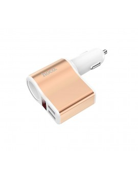 Car Charger Hoco Z10 Dual USB Fast Charging 5V 120W and Input 12/24V White