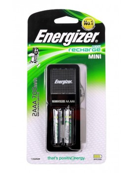 Battery Charger Energizer ACCU Recharge Mini with AA/AAA with 2 ΑΑ Batteries 2000mAh Included