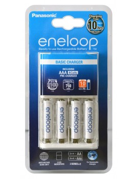 Battery Charger Panasonic Eneloop BQ-CC51E for AAA with 4 Batteries
