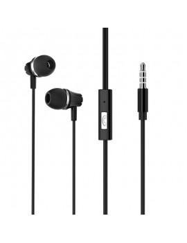 Hands Free Borofone BM21 Graceful Stereo 3.5 mm Black with Micrphone and Operation Control Button