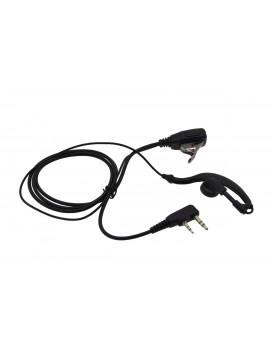 Hands Free Mono Ancus HiConnect with dual connector 2.5mm & 3.5mm with operating button for Walkie Talkie Black Bulk