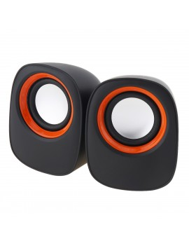 Multimedia Speaker Stereo Leerfei D-05A with 3.5mm jack and USB Charge, 5W Black-Blue