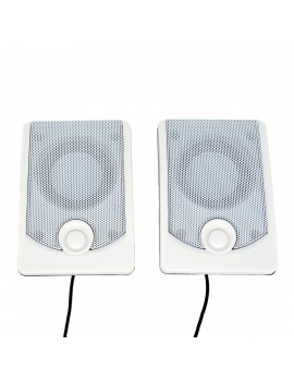 Multimedia Speaker Stereo K37 2X3W with Built-in Amplifier, 3.5mm Jack and USB Charge, Black-White