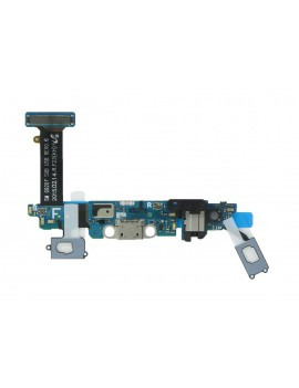 Flex Cable Samsung SM-G920F Galaxy S6 with Charging Connector, Microphone, Touch Keys and Home Button Blue - Gold Original GH96-08275B