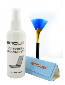 Screen Cleaning Kit Ancus 100ml with Cloth and Brush