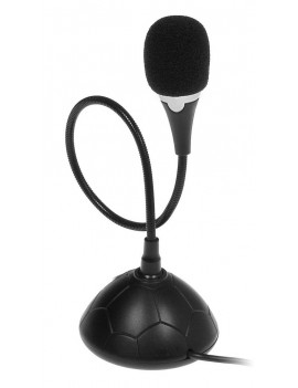 Computer Microphone Media-Tech MT392 Black with ON/OFF button and flexible arm