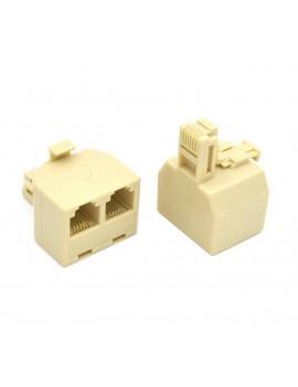 Telephone Socket Splitter RJ11 Jasper Male to 2x Female