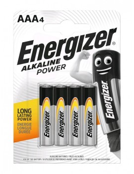 Battery Alkaline Energizer Alkaline Power LR03 size AAA 1.5V Pcs. 4
