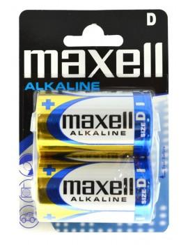 Alkaline Battery Maxell LR20 size D Pcs. 2