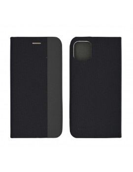 Book Case Ancus Magnetic Canvas for Apple iPhone 11 Pro Max TPU Black