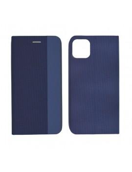 Book Case Ancus Magnetic Canvas for Apple iPhone 11 Pro Max TPU Dark Blue