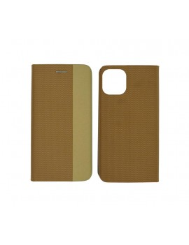 Book Case Ancus Magnetic Canvas for Apple iPhone 11 Pro Max TPU Gold