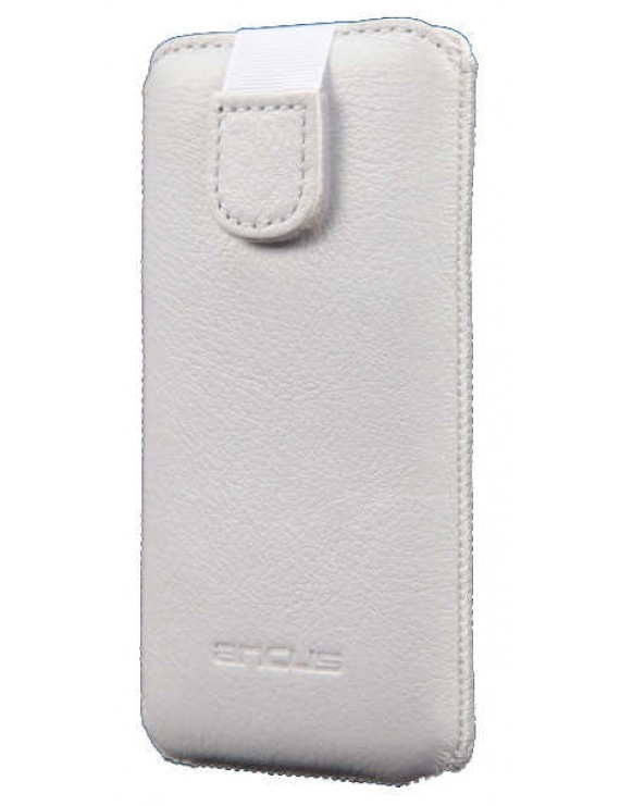 Case Protect Ancus for Apple iPhone SE/5/5S/5C Old Leather White
