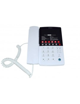 Hotel-Τype Telephone Device Witech WT-5006 White with Emergency Button and Open Conversation