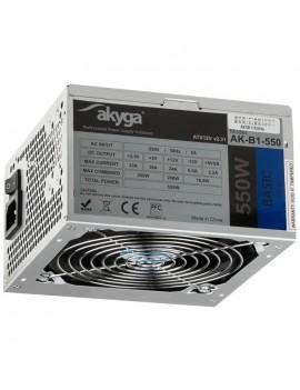 Power Supply ATX Akyga AK-B1-550 550W P4 PCI-E 6+2 pin 3x SATA 2x Molex PPFC FAN 12cm