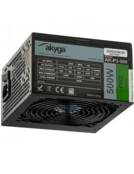 Power Supply ATX Akyga AK-P3-500 P4+4 2x PCI-E 6+2 pin 5x SATA 2x Molex PPFC FAN 12cm