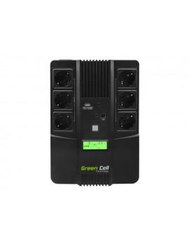 UPS Green Cell UPS07 Microsine 800VA LCD 12V 9Ah 480W 6x Schuko 270 x 190 x 90 mm