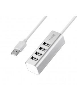 USB 2.0 Hoco HB1 4 Port Silver