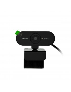 USB Webcam Mobilis PC01 Full HD 1080P 1920X1080 with Microphone and Focus Range 20mm. Black