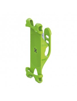 Bicycle Mount Maxcom Shock Grip for Smartphone Green that can be attached to Bikes and Scooters
