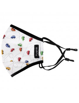 PureMe Reusable / Adjustable Mask Kids 2 pcs N95 filters inside the package Car Print