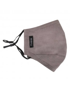 PureMe Reusable / Adjustable Mask Linen 2 pcs N95 filters inside the package Charcoal Grey