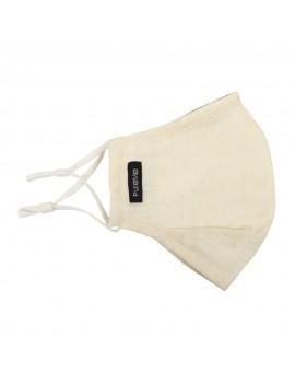 PureMe Reusable / Adjustable Mask Linen 2 pcs N95 filters inside the package Cream