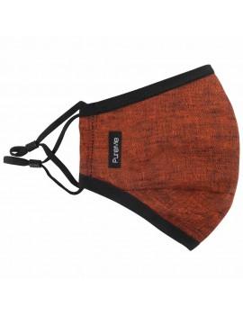 PureMe Reusable / Adjustable Mask Linen 2 pcs N95 filters inside the package Rust Orange